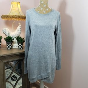 Athleta grey sweatshirt dress thumb holes sz. Sm